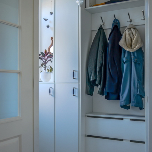 Garderobekast in hal