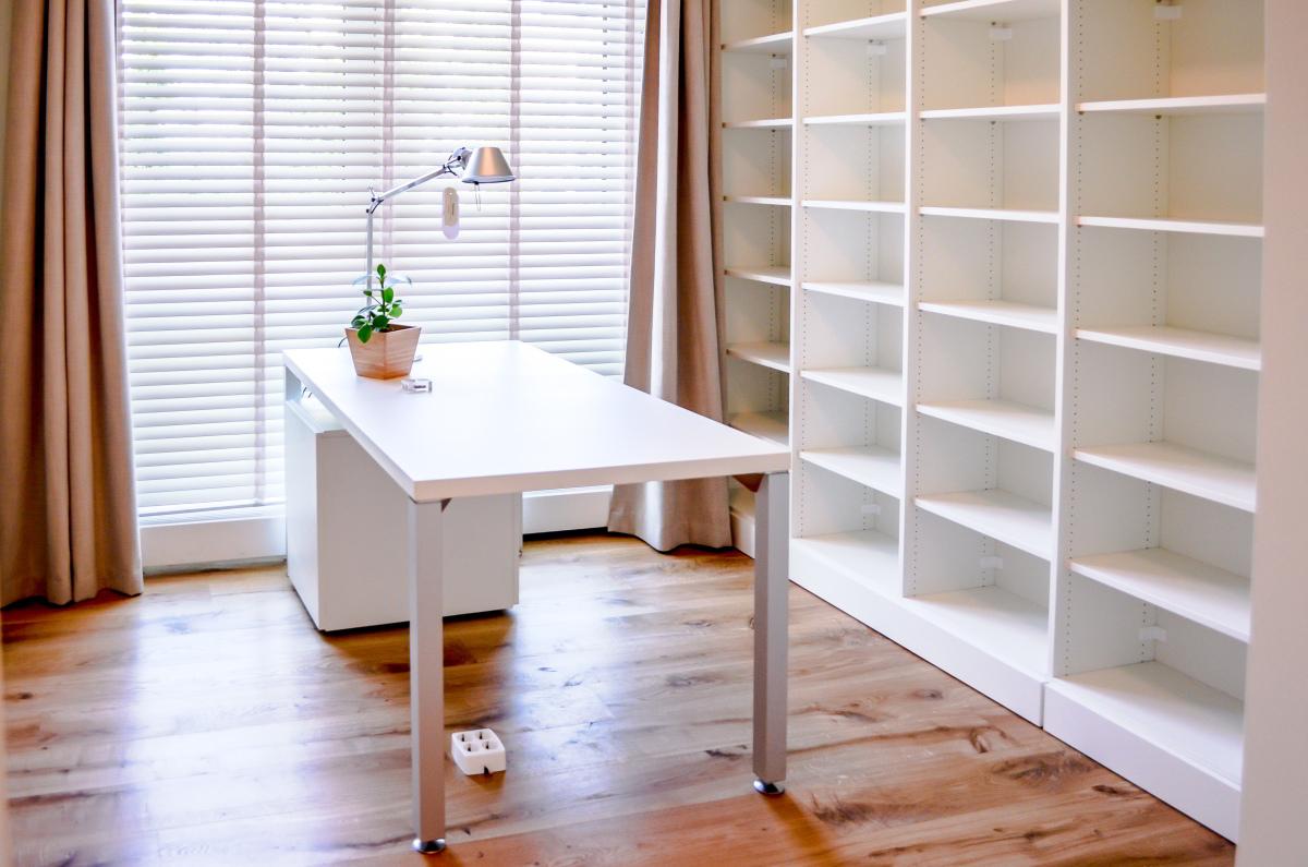 Werkkamer boekenkast